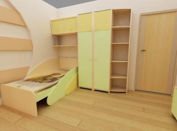 Распашной шкаф 002 для детской спальни