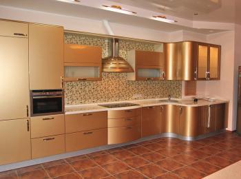 Кухонные шкафы 007 Светлана-2 золото