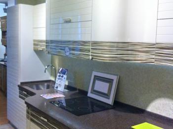 Кухонные шкафы 014 Лигна белый с пестрым