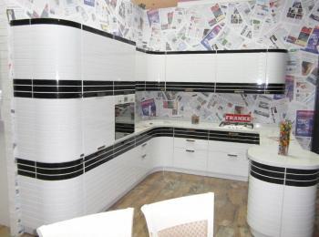 Кухонный шкаф Лигна 016 классический черный с белым