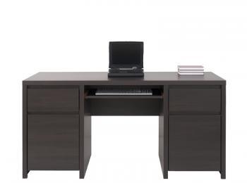 Большой письменный стол 010 коллекции Каспиан в цвете Венге