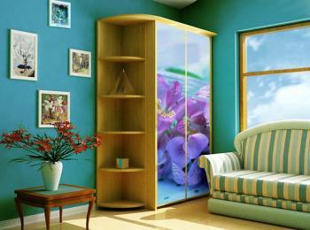 Шкаф-купе 012 с морскими цветами