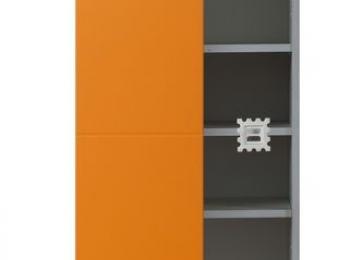 Шкаф распашной 043 Чиз оранжевый