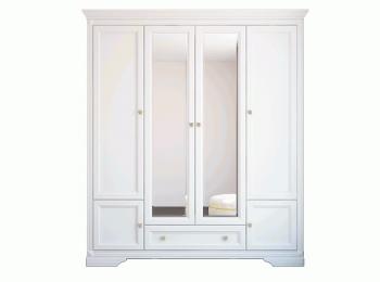 Распашной шкаф 058 Клео в белом цвете