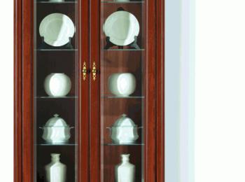 Распашной шкаф 113 с витриной коллекции Стилиус.