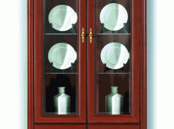 Классический шкаф 114 с витриной коллекции Стилиус.
