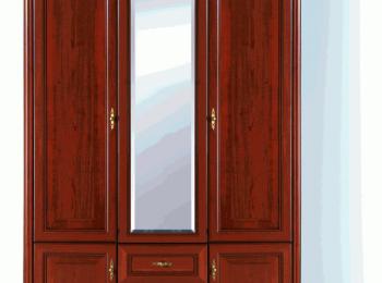 Классический трехстворчатый распашной шкаф 072 коллекции Стилиус.