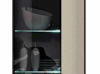 Шкаф с витриной 124 коллекции Дрифт