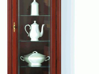 Шкаф с витриной 138 коллекции Стилиус.