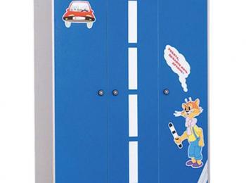 Шкаф распашной для детской 068 Лео в синем цвете
