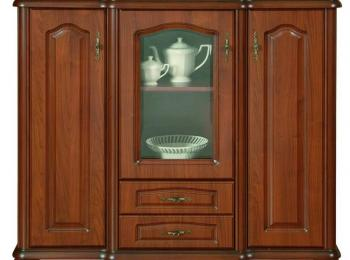Большая тумба с витриной 142 коллекции Наталия
