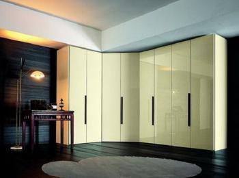Угловой распашной шкаф 007 «Глянец-1»