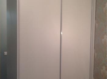 Шкаф-купе 096 светло-серый с ящиками внутри