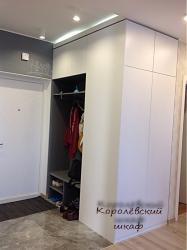 Шкаф 146 распашной белый с прихожей