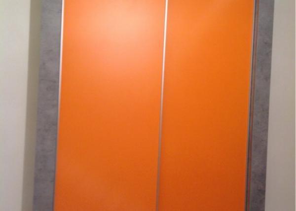 Шкаф-купе 095 оранжевый с серыми стенками
