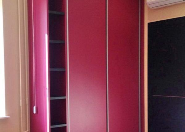 Шкаф-купе 101 двустворчатый малиновый цвет