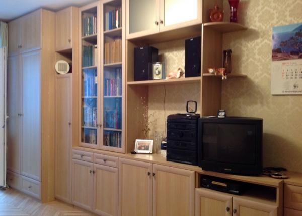 Классическая стенка 033 для гостиной комнаты
