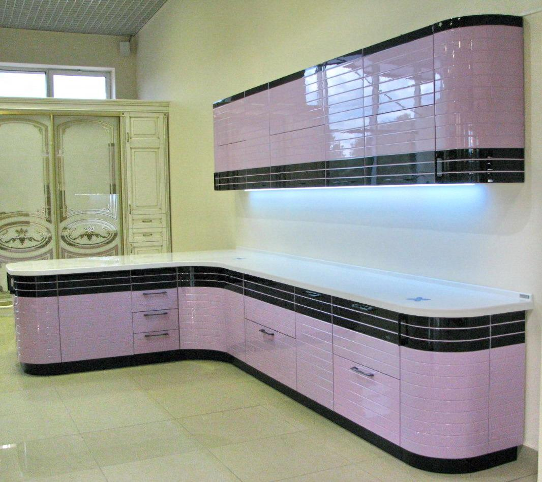 Кухонные шкафы 013 Лигна лилово-черный