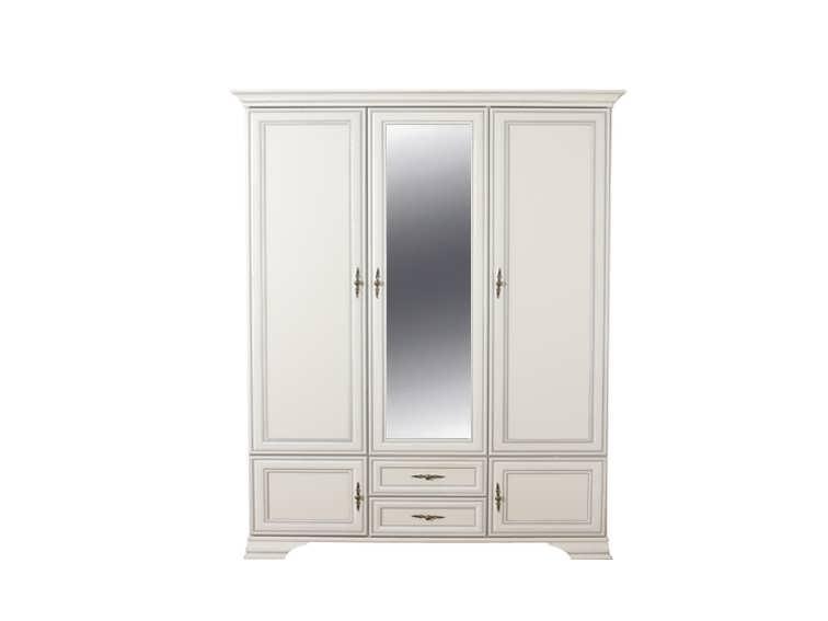 Белый распашной шкаф 079 коллекции Кентаки