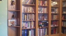 Угловой книжный шкаф 015 цвет орех