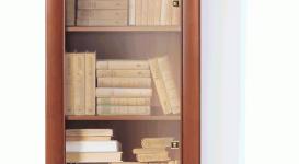 Шкаф с витриной 132 коллекции Ларго Классик.